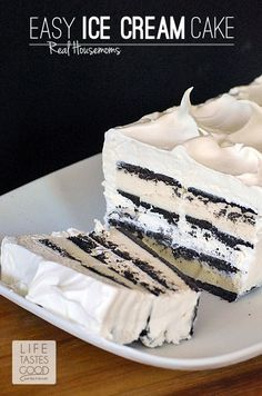 Easy Ice Cream Sandwich Cake | Real Housemoms