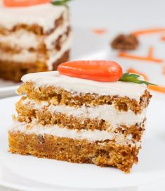 Cake Recipes, Dessert Recipes, Best Carrot Cake, Vanilla Cake, Deserts, Good Food, Food And Drink, Sweets, Snacks