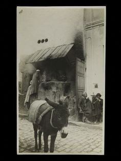 A cafe in Kairouan, Algeria, with a donkey in the foreground. Date: ca. 1925 (made). Artist/Maker: Unknown. Courtesy: © Victoria and Albert Museum, London (UK).