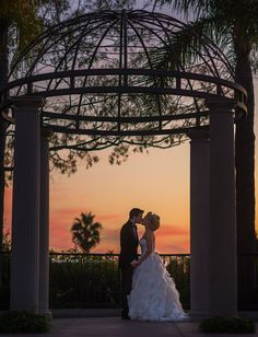 Marriott Newport Beach Hotel & Spa Wedding - Would love to do a sunset shot like this.