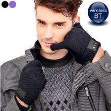 Nieuwste draadloze smart bluetooth talking mono hi-call handschoen touch handset houden touch warm handschoenen-hand gratis met mic voor mannen jongens(China (Mainland))