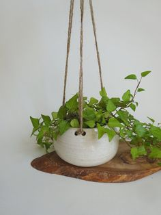 Small Hanging Planter  Hanging Vase for succulent by viCeramics