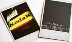 Polaroid inspired Photographer Business Cards