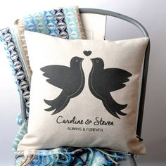 Love Doves Personalised Cushion Cover