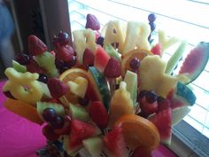for Baby shower - fruit bouquet