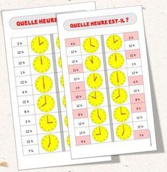 Lire l'heure en utilisant les cartes à choix - L'école d'Ailleurs