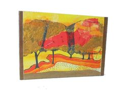 Bartrams Garden Gold  Giclee Print on Wood Block by sixsistersart, $35.00