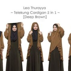 Telekung Cardigan Lea Thurayya 2in1 Deep Brown