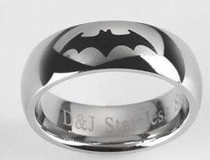 batman wedding rings   batman wedding ring stainless steel   W