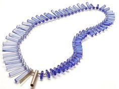 "Blanche Tilden – ""Compress"" necklace - glass"