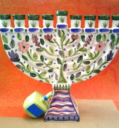 CHANUKAH Menorah The Seasons by BethGoldsteinDesigns on Etsy