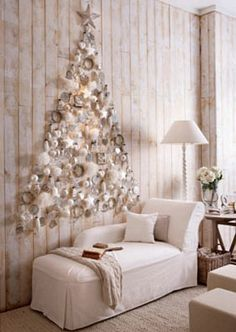 Christmas tree on wall