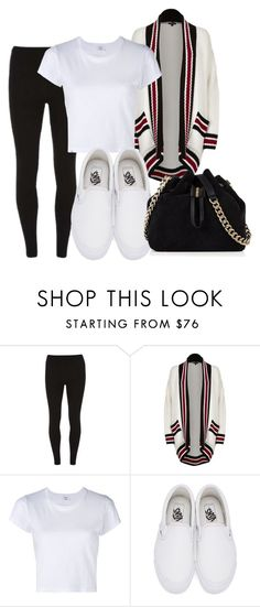 """how to style leggings look #2"" by theblushingbeauty ❤ liked on Polyvore featuring Dorothy Perkins, River Island, RE/DONE, Vans and Karen Millen"