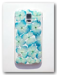 Handmade  Samsung Galaxy S5 case, Resin with Real Flower (2)