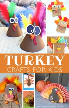 Turkey Crafts for Kids - Wonderful Art and Craft Ideas for Fall and Thanksgiving