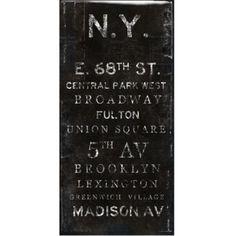 N.Y. - Glass Coat from Z Gallerie
