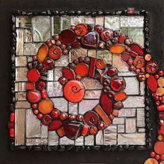Institute of Mosaic Art | Visiting Artist Kelley Knickerbocker: Glass on Mirror: Color, Texture, Bling! | Online Registration