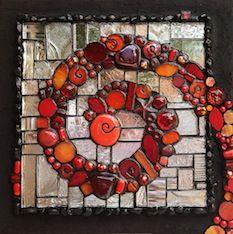 Institute of Mosaic Art | Visiting Artist Kelley Knickerbocker: Glass on Mirror: Color, Texture, Bling! | Online Registration
