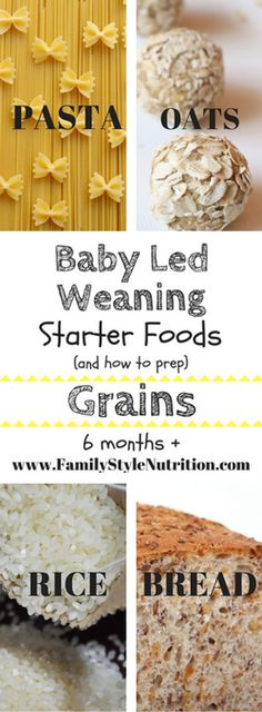 baby led weaning starter foods 6months