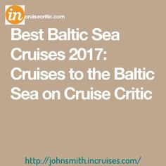 🌎🌏🎈 Get a cruise for half price or even for free!💟 Real deal!🚢 Watch the video in the profile for more details.🚤 Best Baltic Sea Cruises 2017: Cruises to the Baltic Sea on Cruise Critic
