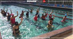 #Repost @saadieltraining @powerclubpanama Clase de #poolbiking todos los sabados en #PanamaPacifico #YoEntrenoEnPowerClub Y Tu ? Cuantas Calorias Quemaste Hoy?  #yoentrenofuerte #quiendijomiedo #squats ##conlasmanosarriba #summer #team #poolfitness