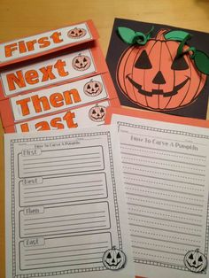 Ah this is so good! Brad does this with his 4th graders...can be easily adapted for different grade-levels! How to carve a pumpkin writing