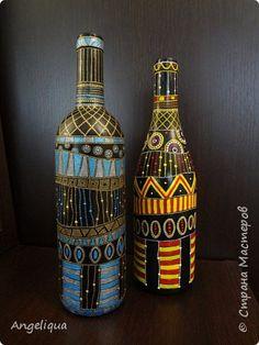 Декор предметов Роспись Бутылки Point to point Бутылки стеклянные фото 1
