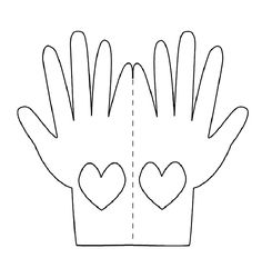 Praying Hands Printable Template | Hands Love Card Template to Print and Color