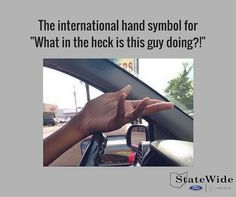 How many of you do this when trying to figure out what another driver is doing? #FunnyFriday