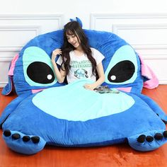 Giant Lilo Stitch Plush Single Beanbag Cartoon Tatami Bed Sleeping Bag for sale online Lilo En Stitch, Lilo And Stitch Quotes, Lilo And Stitch Toys, Peluche Stitch, Tatami Bed, Cute Disney Outfits, Stitch And Angel, Cute Stitch, Novelty Gifts
