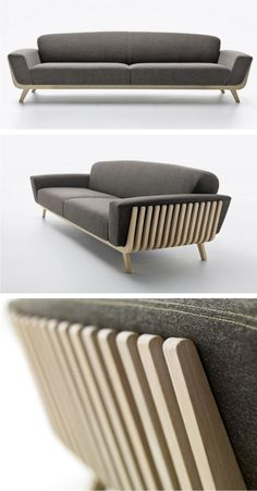 Ezio Riva and Arturo Montanelli have designed the Hamper Sofa for Passoni Nature.
