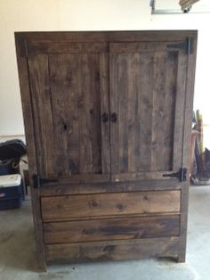 Handmade Wooden Rustic Armoire By Mandmwoodworking On Etsy, $800.00