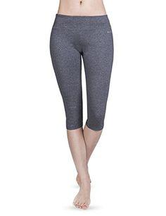 bac634301fbdf Baleaf Women's Yoga Capri Legging Charcoal Size XL -  http://yogaclothingforwomen.shopping