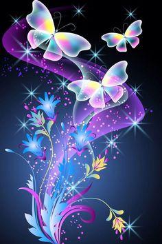Best Flower Wallpaper, Purple Butterfly Wallpaper, Fairy Wallpaper, Wallpaper Nature Flowers, Butterfly Wallpaper Iphone, Beautiful Flowers Wallpapers, Neon Wallpaper, Beautiful Nature Wallpaper, Cute Wallpaper Backgrounds