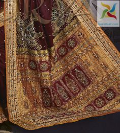 banarsi silk saree with kundan work, from India