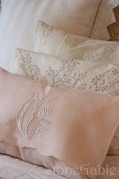 Blush linen pillow sham
