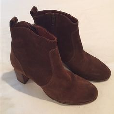 J Crew Suede Booties Barely worn brown suede booties from J. Crew. J. Crew Shoes Ankle Boots & Booties