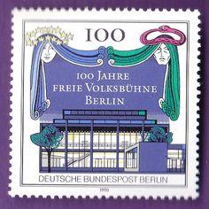 BERLIN GERMANY 1990 FREIE VOLKSBUHNE THEATER STAMP