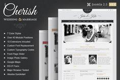 Cherish Wedding Joomla Theme by webunderdog on Creative Market