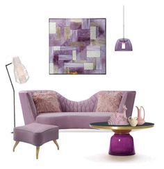 """""""Purple Home Decor"""" by shistyle ❤ liked on Polyvore featuring interior, interiors, interior design, home, home decor, interior decorating, Besa Lighting and Gubi"""