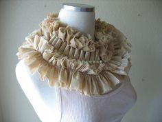 Modern Elizabethan Collar Muslin and Pearls by MaggieGlynn