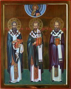 The Three Great Cappadocian Fathers Russian Fashion, Orthodox Icons, Byzantine, Captain America, Christianity, Catholic, Saints, Religion, Superhero