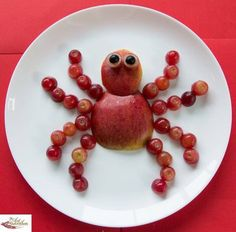 Fruit spider snack for kids Healthy Snacks For Kids, Healthy Snacks For Children