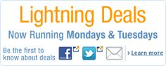 Today's Deals    The best deals and offers across Amazon.co.uk. Lightning Deals now run every Monday and Tuesday. Click here to find out how it works. Deals of the Week end Sunday 11:59 pm and are subject to availability and terms and conditions.