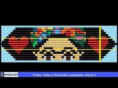 Frida en Mostacilla ►Telar y Puntada cuadrada 😱😱. Parte 2 - YouTube Loom Beading, Elsa, Pandora, Beads, Youtube, Peyote Stitch, Pvc Pipes, Viva Mexico, Bracelet Patterns