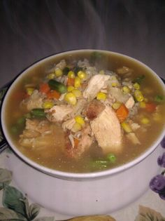 Chicken and Mixed Vegetable Ramen Noodle Soup ...