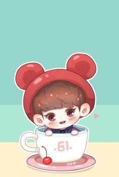 Chanbaek Fanart, Baekhyun Fanart, Exo Chanbaek, Kpop Fanart, Chansoo, Exo Anime, Anime Chibi, Park Chanyeol, Exo Cartoon
