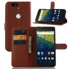 [FREE SHIPPING] Luxury Leather Wallet Case for Nexus 6p