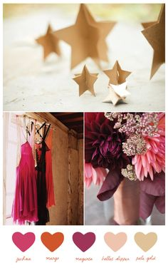 gold magenta mango-wedding-colors
