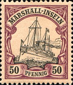 "Marshall Islands 1901 Yacht ""Hohenzollern II"" Issue  [MiNr 20, Sc 20] 50pf"